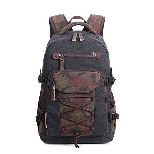 Multifunktions-USB-Aufladungsmann-Laptop-Rucksäcke für Jugendlich-Art- und Weisemannesreise-Rucksackschwarzes - Canvas Long Strap Handtasche