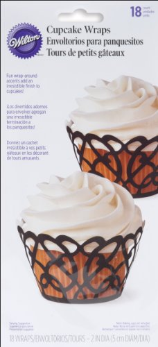 Cupcake Wrap 18/Pkg-Swirls Black