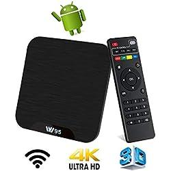 TV Box Android 7.1 - VIDEN W2 Smart TV Box Dernière Amlogic S905X Quad-Core, 2Go RAM & 16Go ROM, 4K UHD H.265, USB, HDMI, WiFi Lecteur Multimédia pour Divertissement à Domicile [Version améliorée]