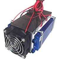 Peltier termoeléctricas Neveras 12V 576W 6-Chip Bricolaje refrigerador termoeléctrico,Negro