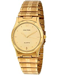Swiss Trend Mens Golden Watch With Golden Dial