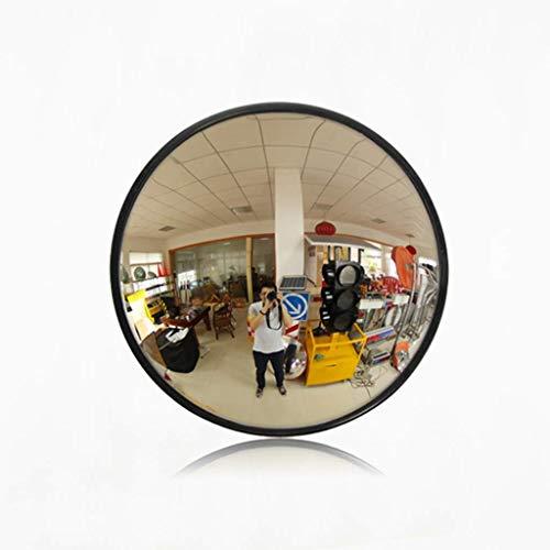 Geng Acryl Verkehrsspiegel Innensupermarkt Diebstahlsicherer runder schwarzer Sicherheits-Konvexspiegel Durchmesser 15 cm Blinder Fleck Spiegel Beobachtungsspiegel (Size : 15cm) (Blinde Fleck, Der Lange Spiegel)