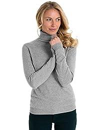 3acd11fc3dc4 Wool Overs Rollkragenpullover aus Merinowolle-Kaschmirwolle für Damen