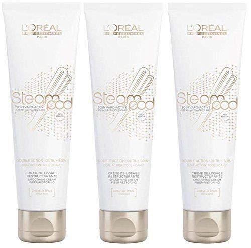 L'oréal - Set de 3 cremas suavizantes Steampod - Pro Active cabello grueso 150 ml