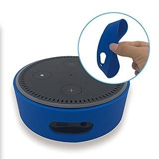 kaarifirefly Silikon Schutzhülle für Amazon Echo Dot, Silikon Fall Station Halter für Echo Dot 2nd Generation