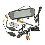 Dpolrs - Cámara de Marcha atrás LED inalámbrica, con visión Nocturna y Retroceso, 7 Pulgadas, TFT, LCD, Espejo de Coche