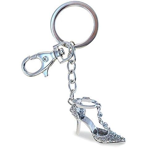 Puzzled Elegant High Heel Shoe Sparkling Charm Elegant Keychain by