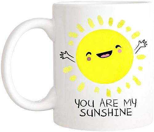Not Applicable Eres mi Taza Sunshine, Lindo Regalo para Novia, Regalo Kawaii para Ella, Taza para niña, Taza única, Taza de té/Taza de té de cerámica de 11 oz, Regalo de Taza