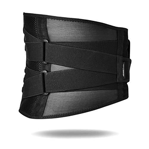 AOLIKES Rückenbandage Lendenwirbel Rückengurt mit Stützstreben Rückenstützgürtel Fitnessgürtel Verstellbare Zuggurte Rückenstütze Gürtel für Herren Damen