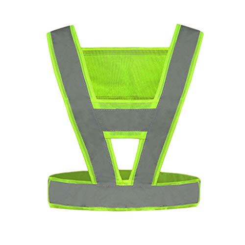 Hohe Sichtbarkeit Overall (Love lamp Reflektierende Warnweste In V-Form Für Verkehrslichtreflektierende Overalls Mit Hoher Sichtbarkeit (Color : Yellow))