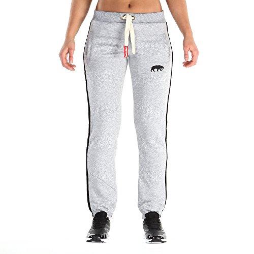 SMILODOX Damen Jogginghose 'Basic 1.0'| Trainingshose für Sport Fitness Gym Training & Freizeit | Sporthose - Jogger Pants - Sweatpants Hosen - Freizeithose Lang, Farbe:Grau, Größe:XS