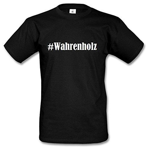 T-Shirt #Wahrenholz Hashtag Raute für Damen Herren und Kinder ... in den Farben Schwarz und Weiss Schwarz