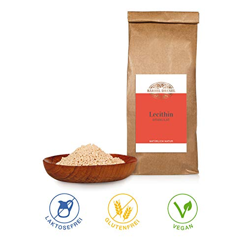 BÄRBEL DREXEL Lecithin Granulat (750mg) 100% Vegane Herstellung Deutschland Sojalecithin Nahrungsergänzungsmittel Pulver