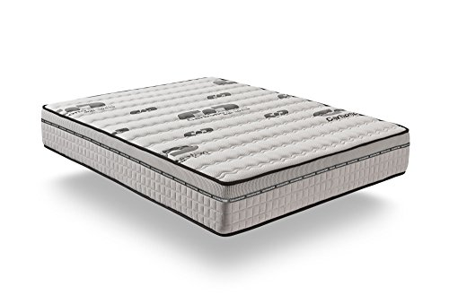 naturalex | Matelas Visco Carbone 120x200 cm | Système HQ Aero Latex | Mousse À Mémoire De Forme | Bio Memory Actif Carbon Latex | 7 Zones De Confort | Anti Stress