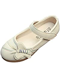 Culater Zapatos para niña Mary Janes Zapatillas Merceditas Moda Flor Chicas (4~10 años)
