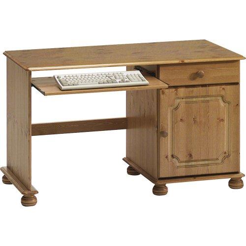 Houston - Solid Wood Office Desk / Workstation - Antique Pine