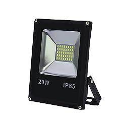 Hengda 3 St/ück 20w kaltwei/ß Energiesparend LED Fluter IP65 wasserdicht Wandleuchter Fluter Flutbeleuchtung