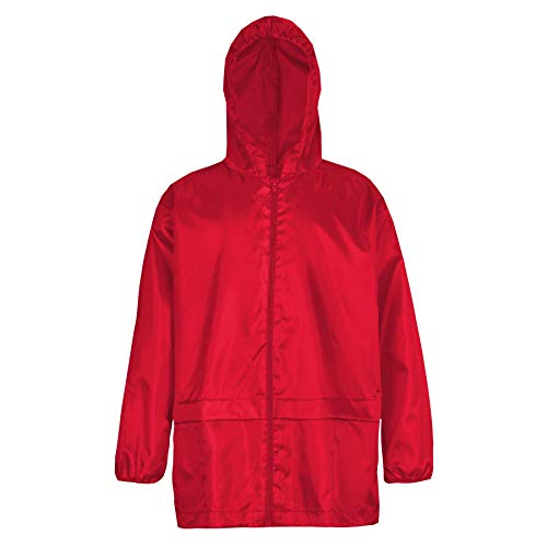 Style It Up Unisex Kids Boy Girl Waterproof Plain Raincoat Mac Kagoul Jacket Hooded Cagoul