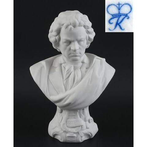 Figura de porcelana Busto Ludwig van Beethoven grande