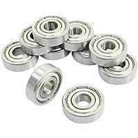 Rodamientos de bolas de ranura profunda sellado - SODIAL(R)10 pzs 6200Z 10 x 30 x 9mm Rodamientos de bolas de ranura profunda sellado de sola fila
