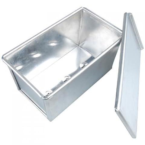 SODIAL(R)Aluminium en sandwich rectangle Pain Pain Tin Pan Box