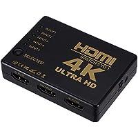 Klicop Splitter HDMI con certificación 1080P V1.4 y 1x5 con resolución Ultra HD 4Kx2K y resoluciones 3D con Control Remoto Dispositivo Divisor