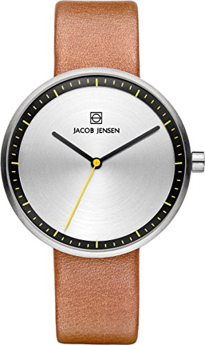 Jacob Jensen Damen-Armbanduhr Analog Quarz Leder 32281