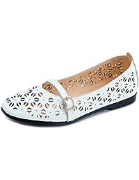 RUGAI-UE Sandalias de mujer respirables y cómodas verano nuevas sandalias de mujer, cabeza redonda, boca baja,...