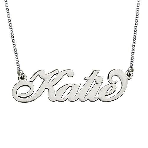FUJIN 925 Sterling Silber Name Halskette Custom Made mit einem Namen (Benutzerdefinierte Kostüme Schmuck Großhandel)