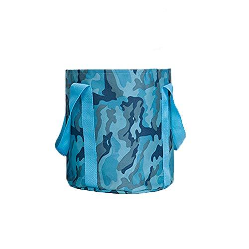 25L faltbarer Wassereimer - Tragbarer Outdoor-Reise-Waschbecken-Wasserbehälter Leicht, langlebig für Camping, Wandern, Angeln, Waschen,Blue