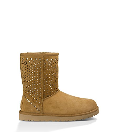 UGG W Classic Short Flora Perf chestnut, Größen:40 (Ugg Classic Australia Short Chestnut)