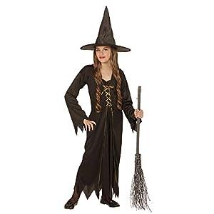WIDMANN De Halloween Costume Girls y Girl, Negro vestido de bruja * 22016-5/7 años