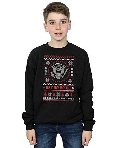 Ramones Jungen Christmas Fair Isle Sweatshirt 5-6 Years Schwarz (Jungen-fair-isle-pullover)