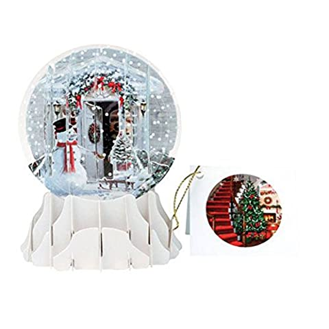 3D Pop Up Holiday Door Snowglobe by Pop Up Cards
