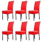 Yunt - 6 Coprisedie in elastan, elasticizzati e resistenti, adatti a vari tipi di sedie - per hotel, banchetti, casa, ecc