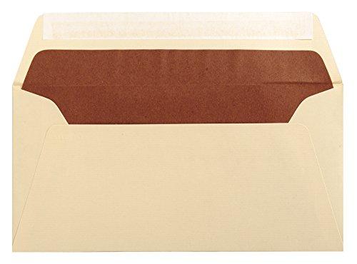 G.Lalo 46116L Umschläge selbstklebend Vergé de France (perfekt für Ihre Einladungen, DL, 11 x 22 cm, 25 Umschläge, elfenbein) -