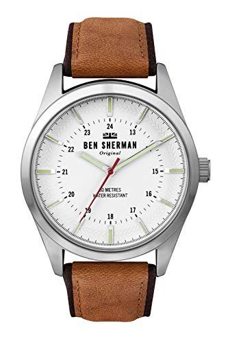 Ben Sherman Hommes Analogique Quartz Montre avec Bracelet en Cuir WB027T