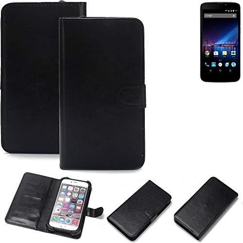 K-S-Trade 360° Wallet Case Handyhülle für Phicomm Clue 2S Schutz Hülle Smartphone Flip Cover Flipstyle Tasche Schutzhülle Flipcover Slim Bumper schwarz, 1x