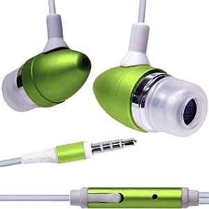 BestBuy-24 Stereo headset earphone Kopfhörer für smartphone + alle iPhone 2G / 3G / 3GS / 4 / 4S / 5 / 5S / 5C / 6 / 6Plus, inear headphones, Farbe grün-metallic