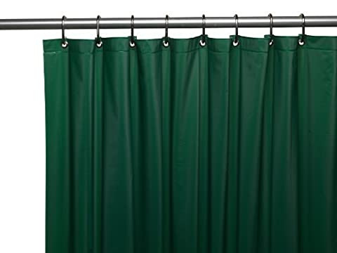 Carnation Home Fashions 3-Gauge Vinyl Shower Curtain Liner with Metal
