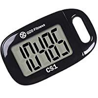 OZO Fitness CS1 Easy Pedometer for Walking   Step Counter with Large Display and Lanyard (Black)