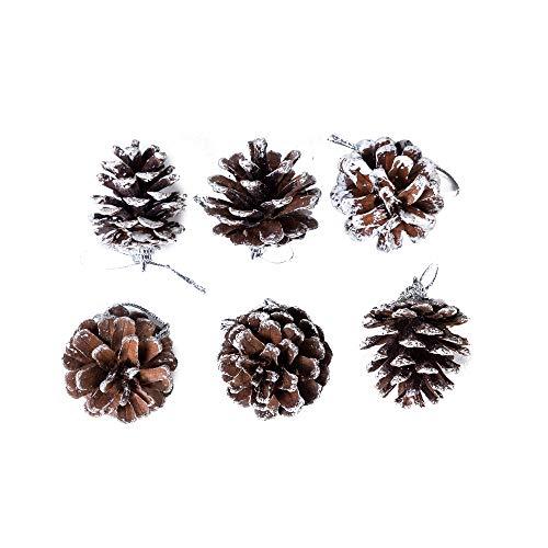 Tannenzapfen/Weihnachtsdekoration, elegant, Vintage-Optik, Naturbraun, ca. 4,4 cm, 6 Stück (Hässliche Pullover Kamin)