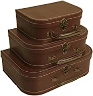 Wald Imports Brown Suitcases