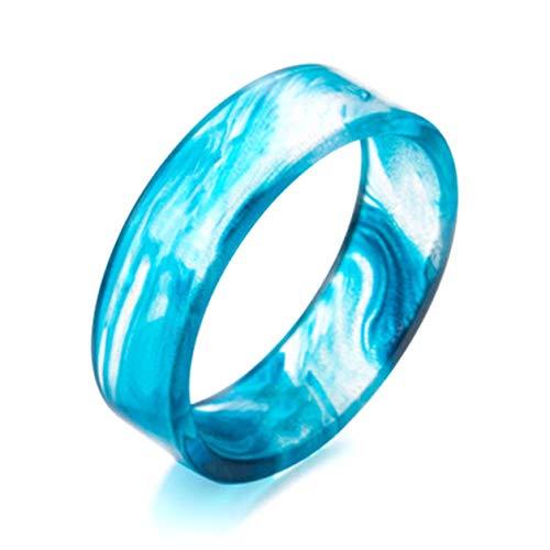 4h6yerf Worthwhile - Anillo de Resina con Pegamento para Pintar con Tinta, diseño Decorativo, Color Azul, Morado, Rojo, Anillo de Resina en Estilo Fino (sin 6 grosores)