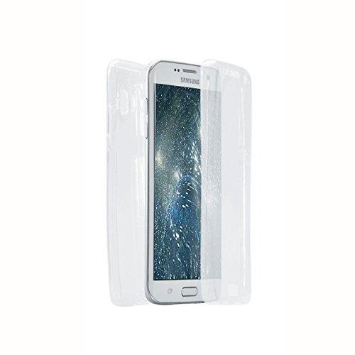 Samsung Galaxy J7 (2016 Version) Coque Gel TPU Silicone Etui Intégrale Transparent Case pour Samsung Galaxy J7 (2016 Version) Housse Protection Full Silicone Souple Case, Vandot Samsung Galaxy J7 (201 Paillette-Blanc