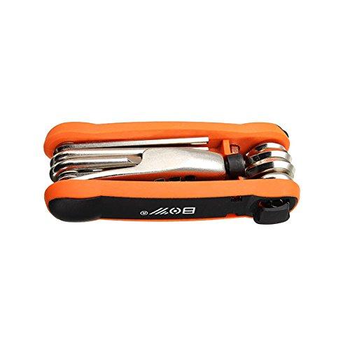 TENGGO 12 In 1 Fahrrad Reparatur Werkzeug Schraubendreher Kit Mit 25 T Schraubenschlüssel Kette Nieten Remover Reifenheber