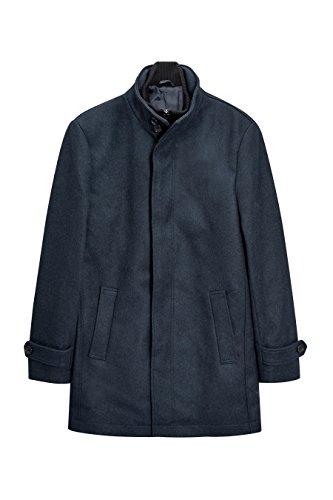 next Manteau texturé à col cheminée Standard Homme Mid Bleu
