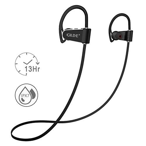 Cuffie Bluetooth Sport Stereo Wireless Auricolari Bluetooth 4.1 IPX7 Impermeabile  per Poggia 0071fed1fa71