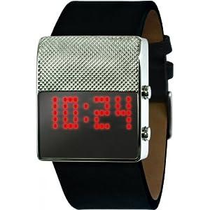 Black Dice BD 056 04 - Reloj digital de cuarzo para hombre con correa de piel, color negro de Black Dice