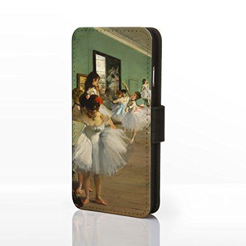 Coque pour téléphones iPhone - Motif œuvre de peintre célèbre - Collection art classique -, Cuir synthétique, 1: Almond Blossom - Vincent Van Gogh, iphone /s 13: Dancing Class - Degas